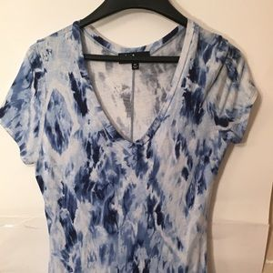 Lulus blue and white dress